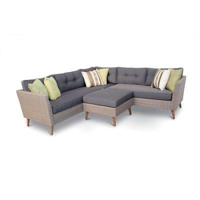 Sofa Rotan Ruang Tamu Sudut Retro