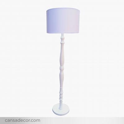lampu lantai supel pilar minimalis modern putih - toko