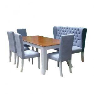 Meja Makan Modern Sofa Mewah Brown CFS - 2