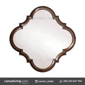 Cermin Meja Kayu Jati Ruang Tamu