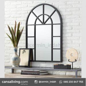 Cermin Jendela Besi Aluminium Hitam Minimalis