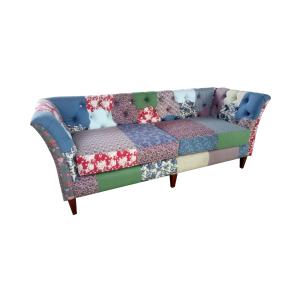 Sofa Retro Minimalis Kain Motif Unik