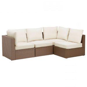 Kursi Sofa Teras Rotan Empat Dudukan