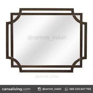 Cermin Aluminium Kamar Tidur Minimalis Mewah