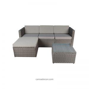 Kursi Sudut Sofa Teras Rotan Minimalis