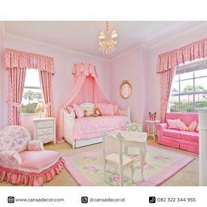Jual Set-Kamar-Tempat-tidur-anak-Princes-Pink
