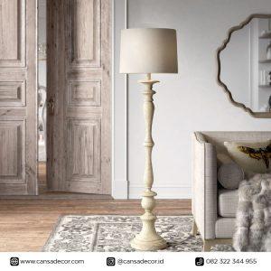 Lampu Lantai Pilar Putih Antik Minimalis Murah Harga