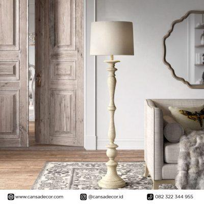 lampu lantai pilar putih antik minimalis murah - toko