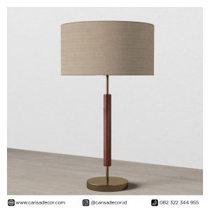 Lampu Meja Kayu Pamela 66 cm Walnut Modern ikea