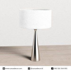 Lampu Meja Modern Kontemporer Metal Stainless Gambar