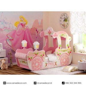 Tempat Tidur Anak Perempuan Kereta Princess Elsa