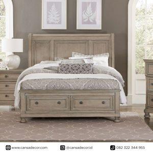 tempat-tidur-antik-vintage-shabby-putih-terbaru