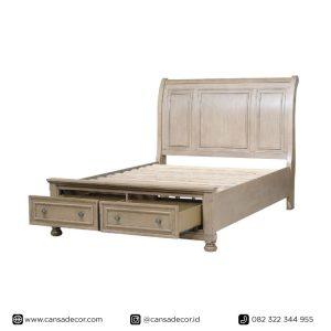 tempat-tidur-antik-vintage-shabby-putih-terbaru-harga