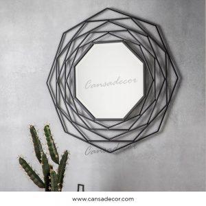Cermin-Dinding-Industrial-Estella-Hitam-Besi-Gambar