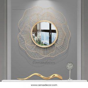 Cermin-Dinding-Mewah-Gold-Rose-Cantik-Kontemporer-Malaysia